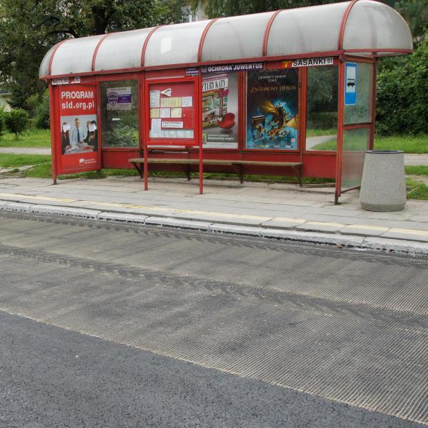 Exempel: Installation i närheten av busshållplatser